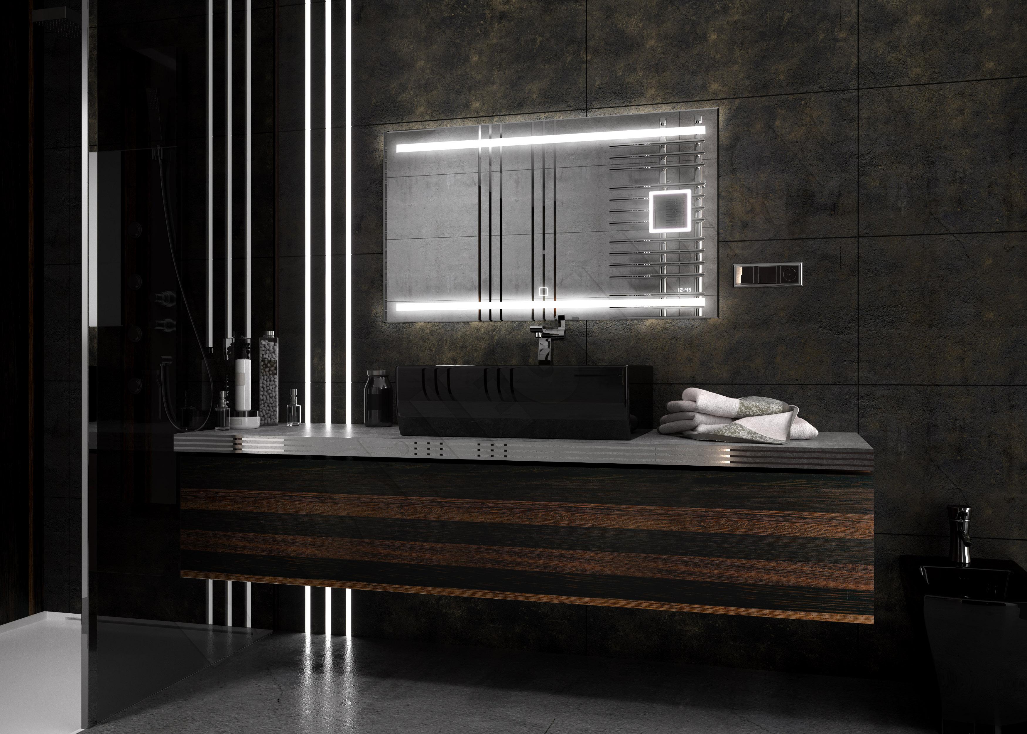Neu design empower 120 70 ledspiegel badspiegel for Design spiegel bad