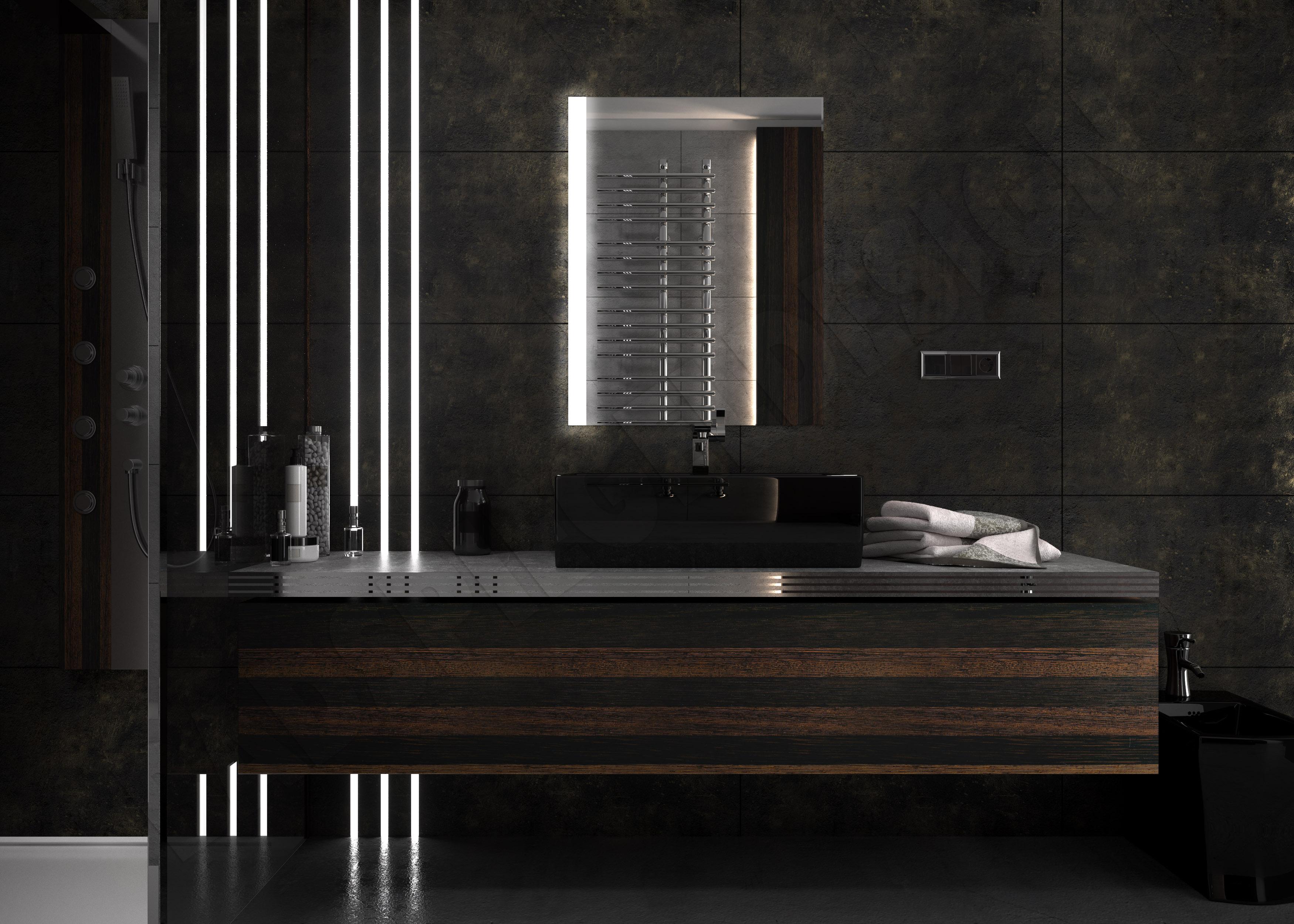 badspiegel beleuchtet 80x60. Black Bedroom Furniture Sets. Home Design Ideas